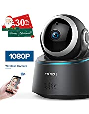 FREDI 1080p Wireless Camera HD WiFi IP Camera for Baby/Elder/Pet/Nanny Monitor, Pan/Tilt, Two-Way Audio & Night Vision(Update Version)