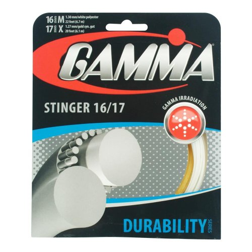 Gamma Stinger Tennis String, Gold/White