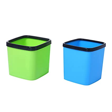 Amazon Com Xshion 2 Pack Wastebasket Small Garbage Can Plastic