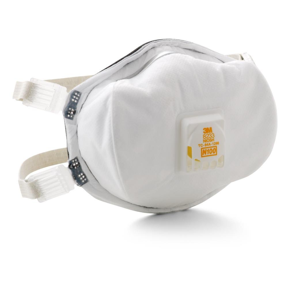 3M 8233 N100 Particulate Respirators - Standard Size, Cup Style, 1 Count