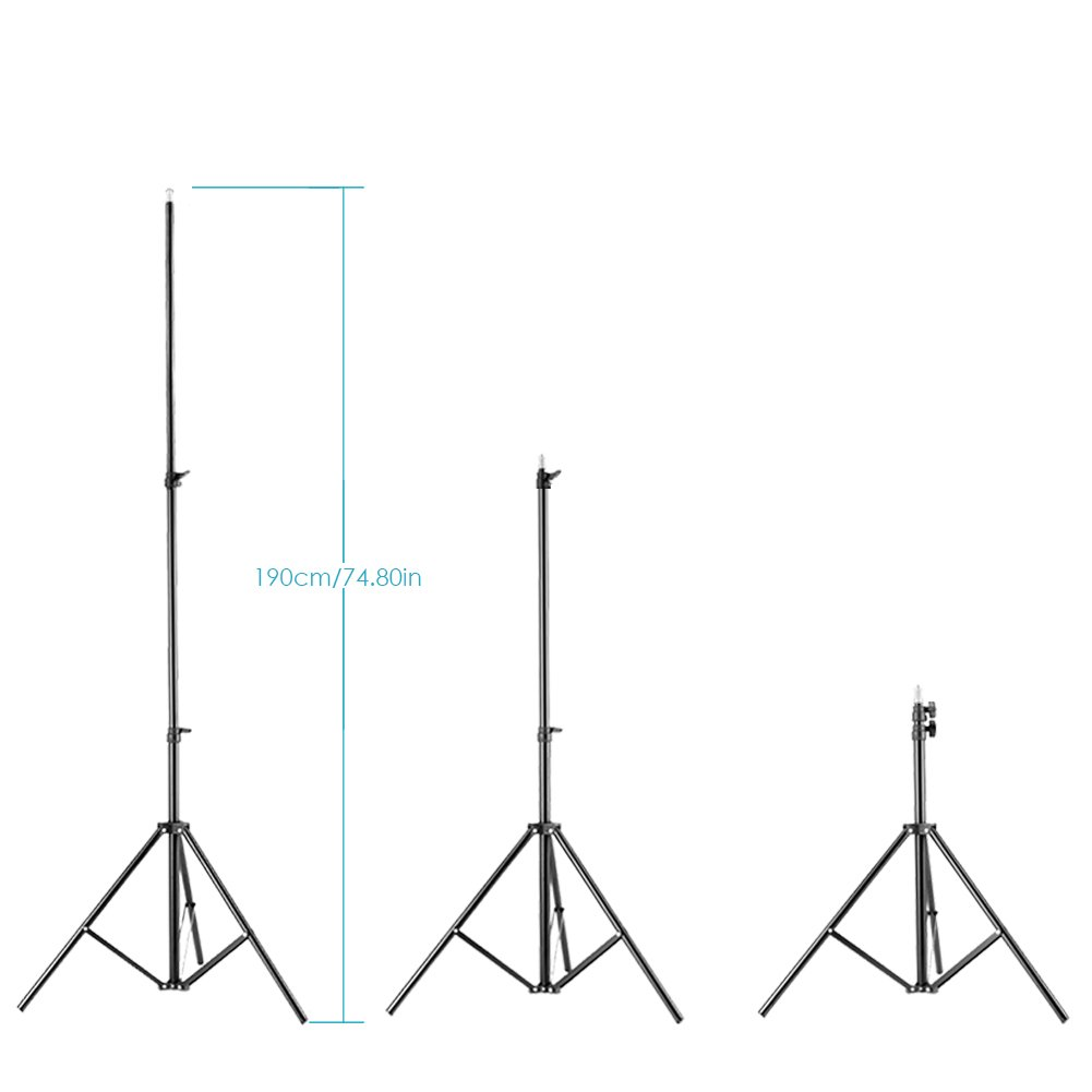 Neewer Two Aluminum Photo Video Tripod Light Stands For Studio Kits Lighting Diagram Photography Lights Soft Boxes 623 Feet 190cm Camera