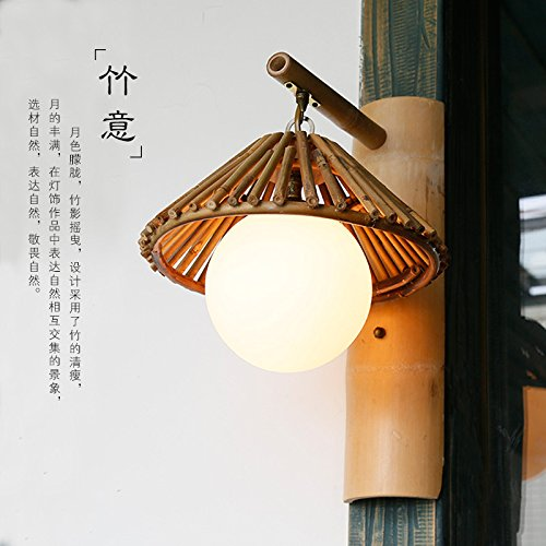 Xwal personalized theme restaurant bamboo wall lights inn bamboo xwal personalized theme restaurant bamboo wall lights inn bamboo lamps creative tea farms minimalist bamboo lamp aloadofball Images