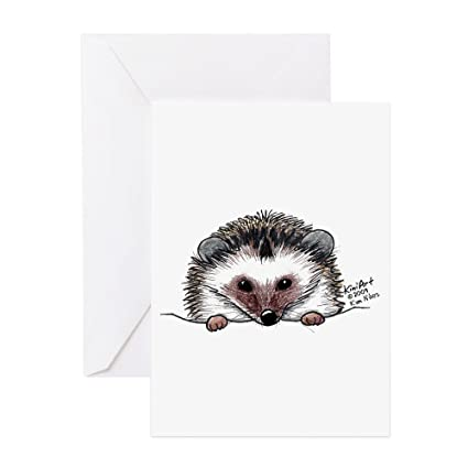 Amazon Cafepress Pocket Hedgehog Greeting Card Note Card