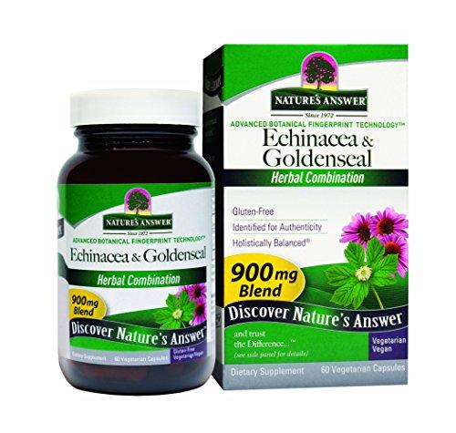Ответ природы Эхинацея / Goldenseal (Herb & Root), Вегетарианская капсулы, 60-Count