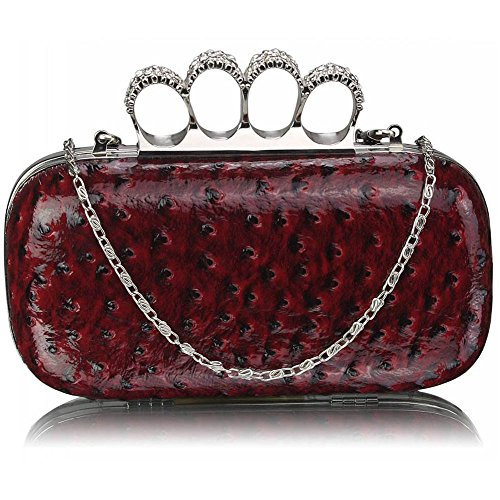 TrendStar - Cartera de mano para mujer Rojo - borgoña