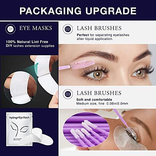 Breavo Lash Lift Kit Upgraded Version, Eyelash Perm Kit, Professional Eyelash Lash Extensions, Lash Curling, Semi-Permanent Curling Perming Wave Suitable For Salon