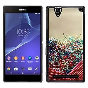 Sony Xperia T2 Ultra Único Patrón Plástico Duro Fundas Cover Cubre Hard Case Cover - Dot Party Colorful Art Photo