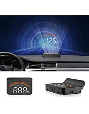 Car Head Up Display, iKiKin Car HUD Display with GPS OBD 2 Dual USB Interface, Alarm Systems & Security Digital Windshield Projector for All Vehicles