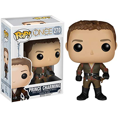 Funko Prince Charming: Once Upon a Time x POP! TV Vinyl Figure & 1 POP! Compatible PET Plastic Graphical Protector Bundle [#270 / 05479 - B] (Once Upon A Time Snow And Charming)
