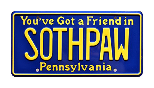 Celebrity Machines Rocky IV | SOTHPAW | Metal Stamped License Plate (Machine Plate License)