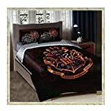 Harry Potter, School Motto Twin/Full Comforter with 2 Pillow Shams