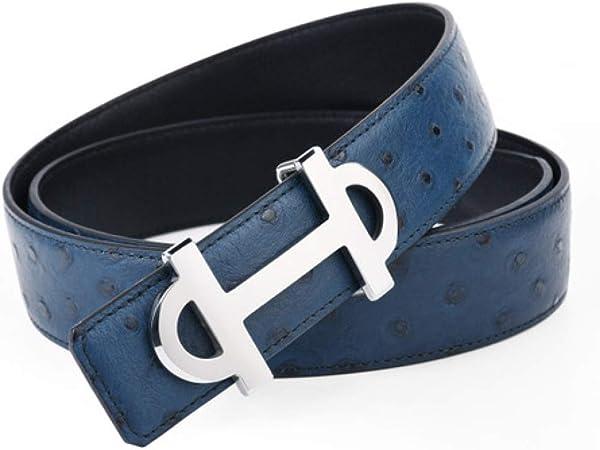 DENGDAI Smooth Buckle Belt Mens Belt