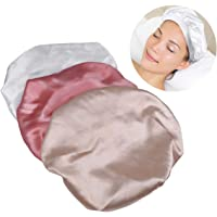 FRCOLOR 3pcs Satin Sleeping Cap Delicate Practical Useful Hair Accessories Hair Protection Supply Sleeping Hat for Trip…