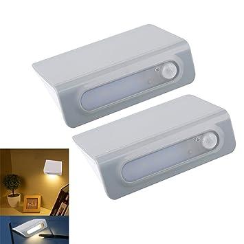 ryham francesa de noche LED con detector de movimiento, batería luz Motion Sensor LED Operated