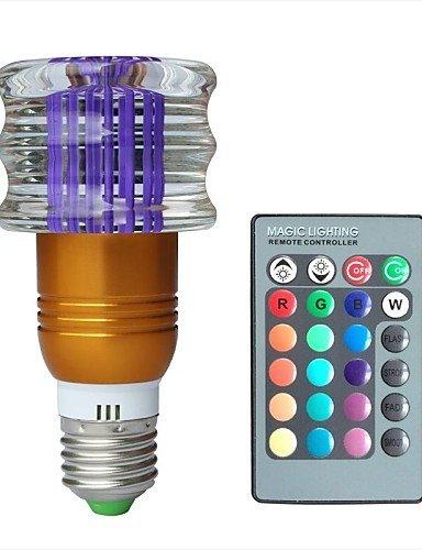 Jliner-jiawen? E273W RGB 16couleurs Cristal LED Ampoule avec télécommande (AC 100–220V)
