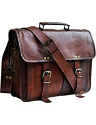 13 genuine leather distressed mens laptop bag leather messenger bag for men women shoulder bag satchel