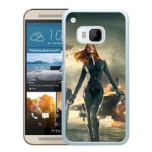 HTC ONE M9 Captain America Black Widow White Screen Cellphone Case Custom and Durable Design