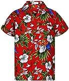 Funky Hawaian Shirt, Bird Cherry, red, XXL