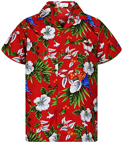 Funky Hawaiian Shirt, Parrotcherry, red, XL
