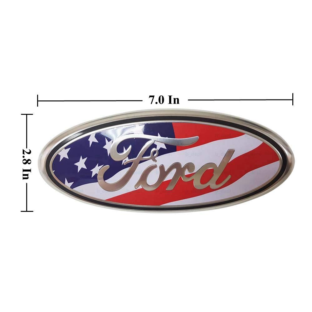 Ford Front Grille Tailgate Emblem 3D Oval 3M Double Side Adhesive Tape Sticker Badge for Ford Escape Excursion Expedition Freestyle F150 F250 F350 7 Inch Ford Emblem