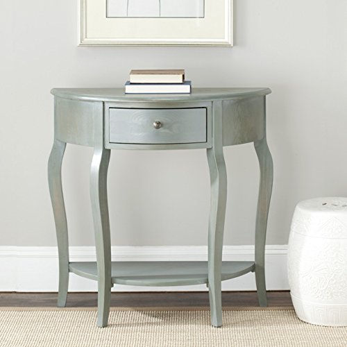 Safavieh American Homes Collection Jan French Grey Demilune Console Table (Table Accent Demilune)