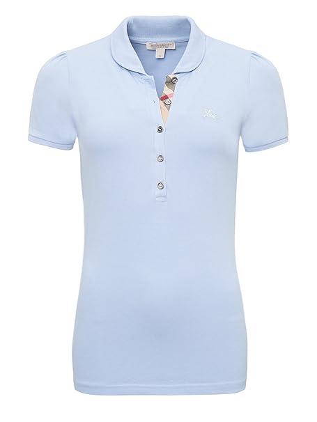 Burberry - Polo brit - Femme - bleu ciel (M)  Amazon.fr  Vêtements ... 1ba42275d13