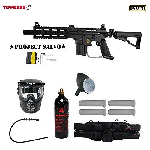 Adjustable Sight 98 Custom Rail (MAddog Tippmann U.S. Army Project Salvo Silver Paintball Gun Package - Black)