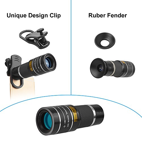 Apexel Cell Phone Telephoto Lens, Universal High Power 20X Mobile Phone Lens Portable Clip-on Camera Attachment for iPhone X/8/7/6s/6Plus/, Samsung Galaxy, Android and Most Smartphones by Apexel (Image #1)