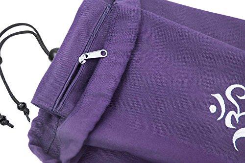 Yogatasche »Devala« von #DoYourYoga aus hochwertiger Baumwolle, aufwendig verarbeitet, für Yogamatten bis zu einer Größe von 180 x 62 x 0,6 cm, in verschiedenen Farben erhältlich. violett