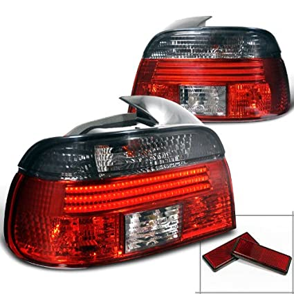 Amazon Spec D Tuning LT E394RG F2 APC Bmw E39 4 Dr 528I 540I M5 LED Red Smoked Lens Tail Lights Automotive