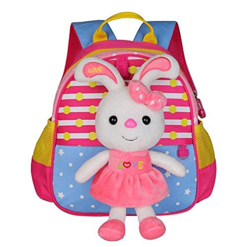 matmo-cute-cartoon-kindergarten-children-school-bag-baby-backpack-rose-red-rabbit