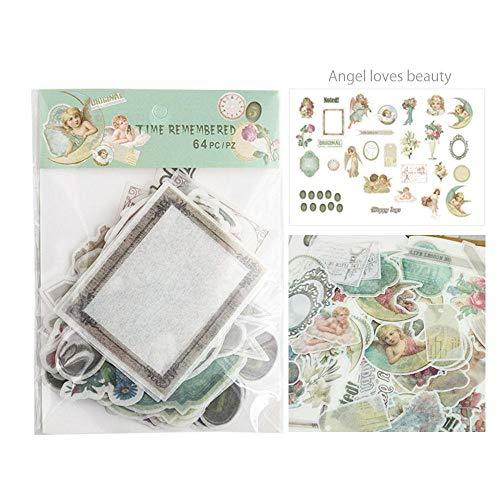 MOGOI Note Sticker, 64 Pcs Scrapbooking Supplies Embellishments Die-Cut Pack,Ephemera Card Stock Notebooks, Greeting Card, Photo Frame, Cup, Halloween ()
