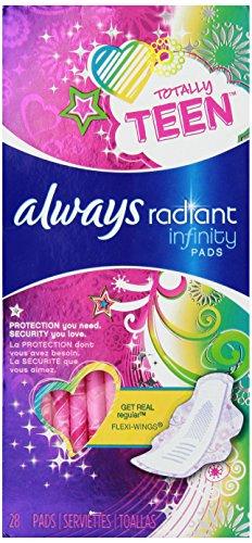 Always Totally Teen Radiant Infinity Pads 28 (Biggie Pads)