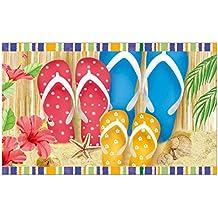 Morigins Summertime Flip Flops 18 x 30 Inch Doormat Outdoor Bathroom Mats