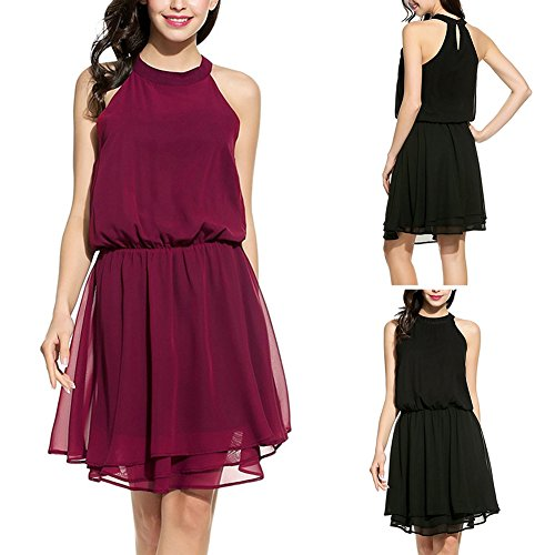 Sleeveless Elegant Dress Vest Black Dress Waist Shoulder Off Chiffon Women Tight Alician Falbala 4nwBZWq6xz