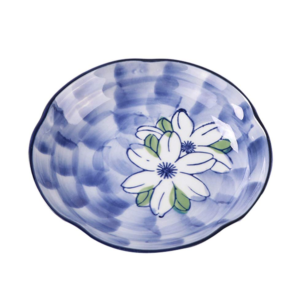 Ceramic Glaze Under The Color Home Dining Dish Sushi Plate Rice Dish Deep Soup Plate Dish (Design : A)
