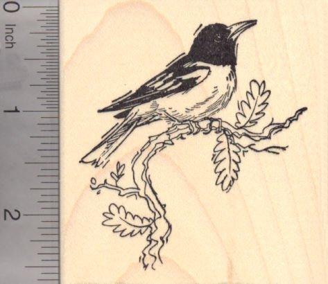 Baltimore Orioles Bird (New World Oriole Bird Rubber Stamp, Baltimore Oriole)