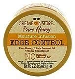Creme Of Nature Pure Honey Edge Control Gel 2.25 Ounce Jar (66ml)