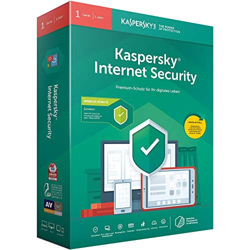 Price comparison product image Kaspersky Internet Security + Android Security (Code in a Box). Für Windows 7 / 8 / 10 / MAC / Android