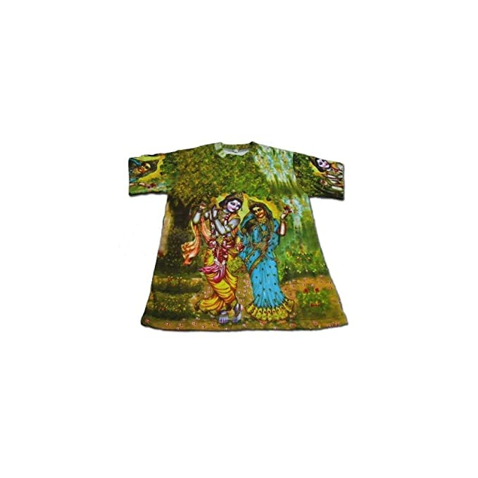 132d75b3 Image Unavailable. Image not available for. Color: Boys T-shirt: Radha  Krishna -- All-Over Print