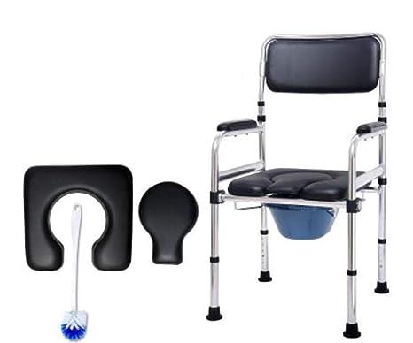Xyymc sedia comoda wc sedia da bagno in alluminio con servizi