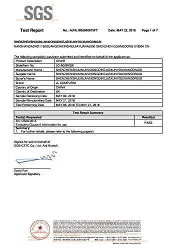 Jl Comfurni Gaming Chair Ergonomic Swivel Executive Office