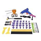 HOTPDR Dent Remover Tool Paintless Dent Repair PDR Kit Dent Puller Kit with Hot Melt Glue Gun for New Auto Car Dent Body Restore (48 Pcs)
