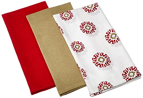 kay dee designs caf express collection medallion flour sack import it all. Black Bedroom Furniture Sets. Home Design Ideas