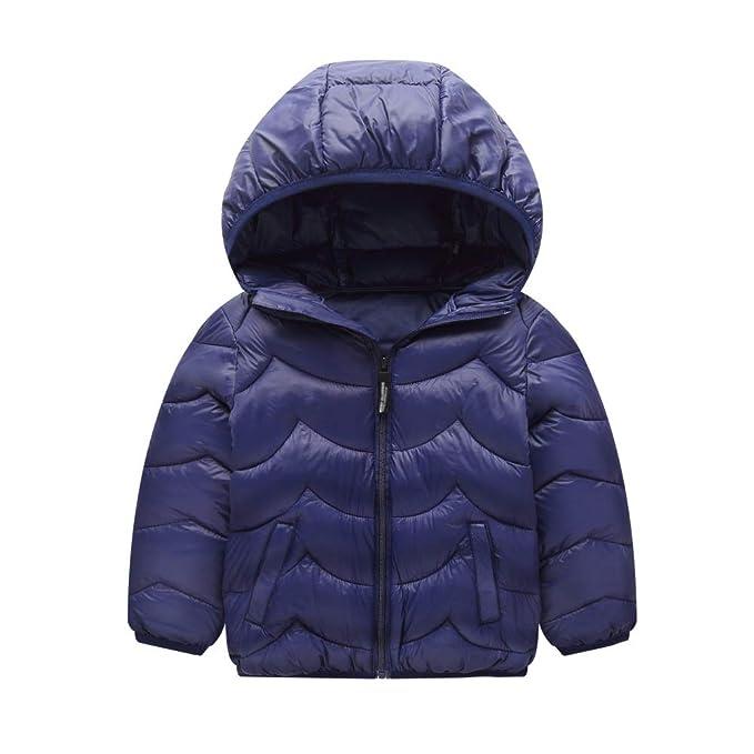 Hongyuangl Bebé Niños niñas Chicos Chicas Abrigo de Invierno Chaqueta Acolchada de algodón Chaqueta con Capucha