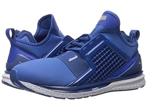 Shoes Splatter (PUMA Men's Ignite Limitless Snow Splatter Cross-Trainer Shoe, True Blue, 10.5 M)