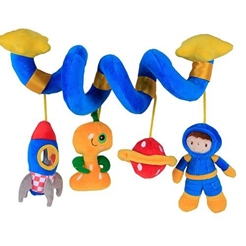 Hanging Toy for Baby with Blue Astronaut, Baby Crib Toy Car Seat/Double Stroller Toy Girl/Boy/Blue Baby Stroller Toy/Baby Toy Stroller/Toy Baby Crib/Hang Toy/Baby Toy Hanging ()