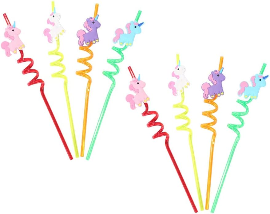 Unicorn Straws for 8 Guests