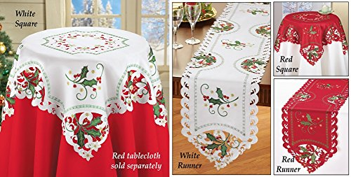 Christmas Holly Berries Linens Runner