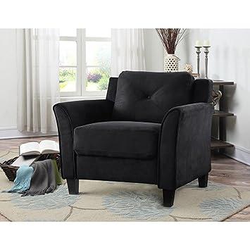 Lifestyle Solutions CCHRFKS1M26BKVA Harrington Chair in Black